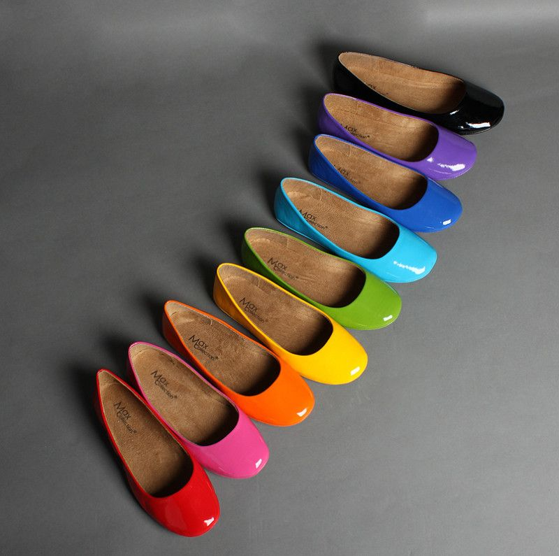Women's Fashion Ballet Flats Shoes COLORS  Easy way to add color to your look