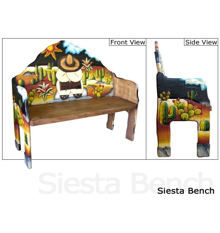Carved Collection Siesta Bench Cb080 Painted Furniture