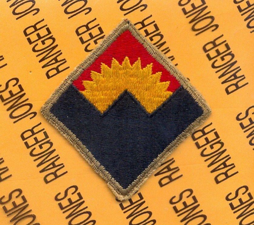 US ARMY WWII Western Defence Command SSI original shoulder
