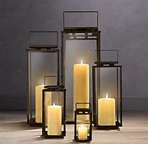 Amalfi Square Lanterns – Weathered Bronze