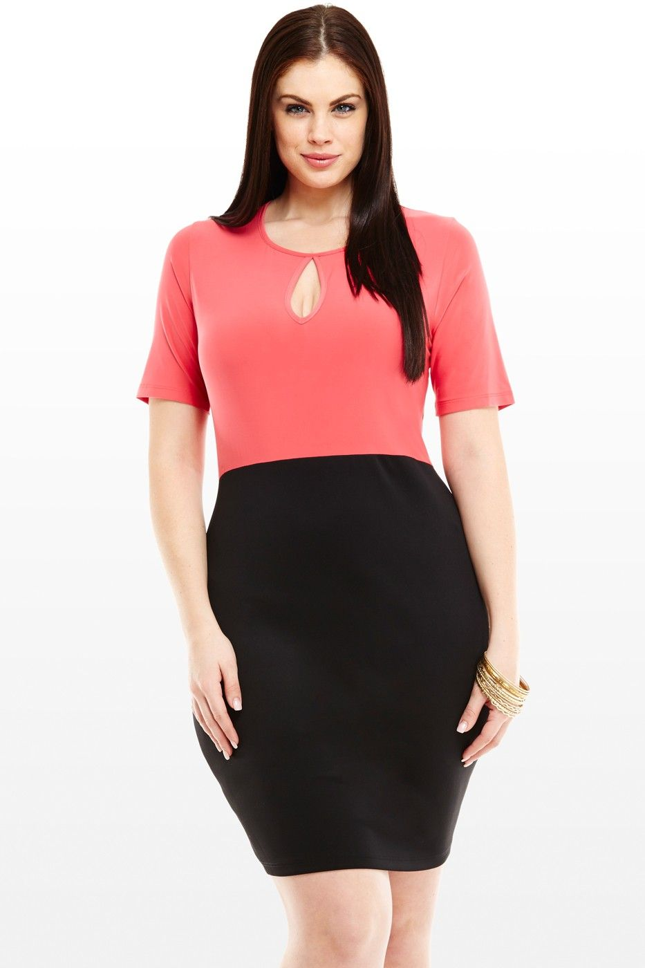 Madison Colorblock Dress With Keyhole Httpfashiontofigure