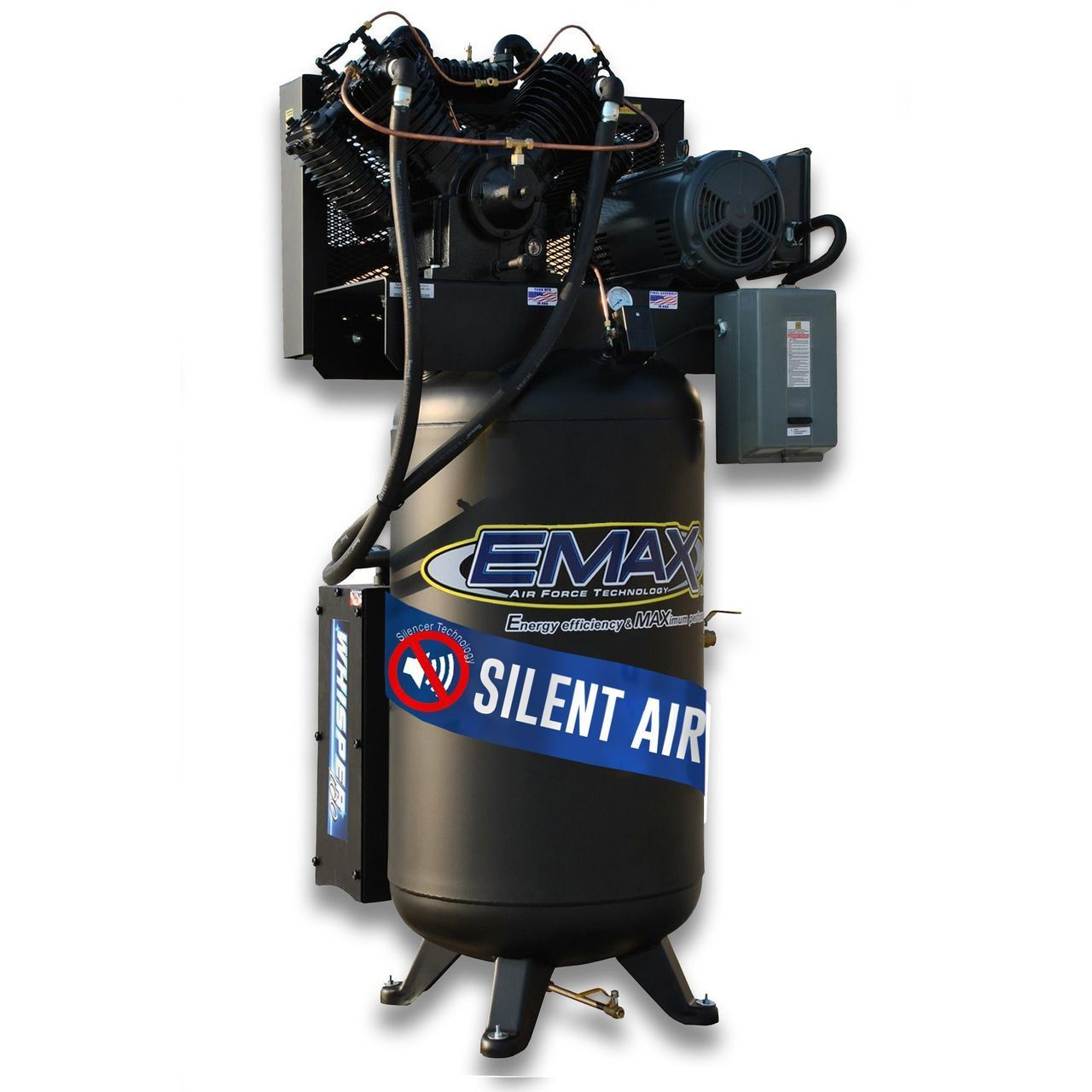Emax ES07V080V1 Industrial 7.5hp 2 Stage 1 Phase 80 Gallon
