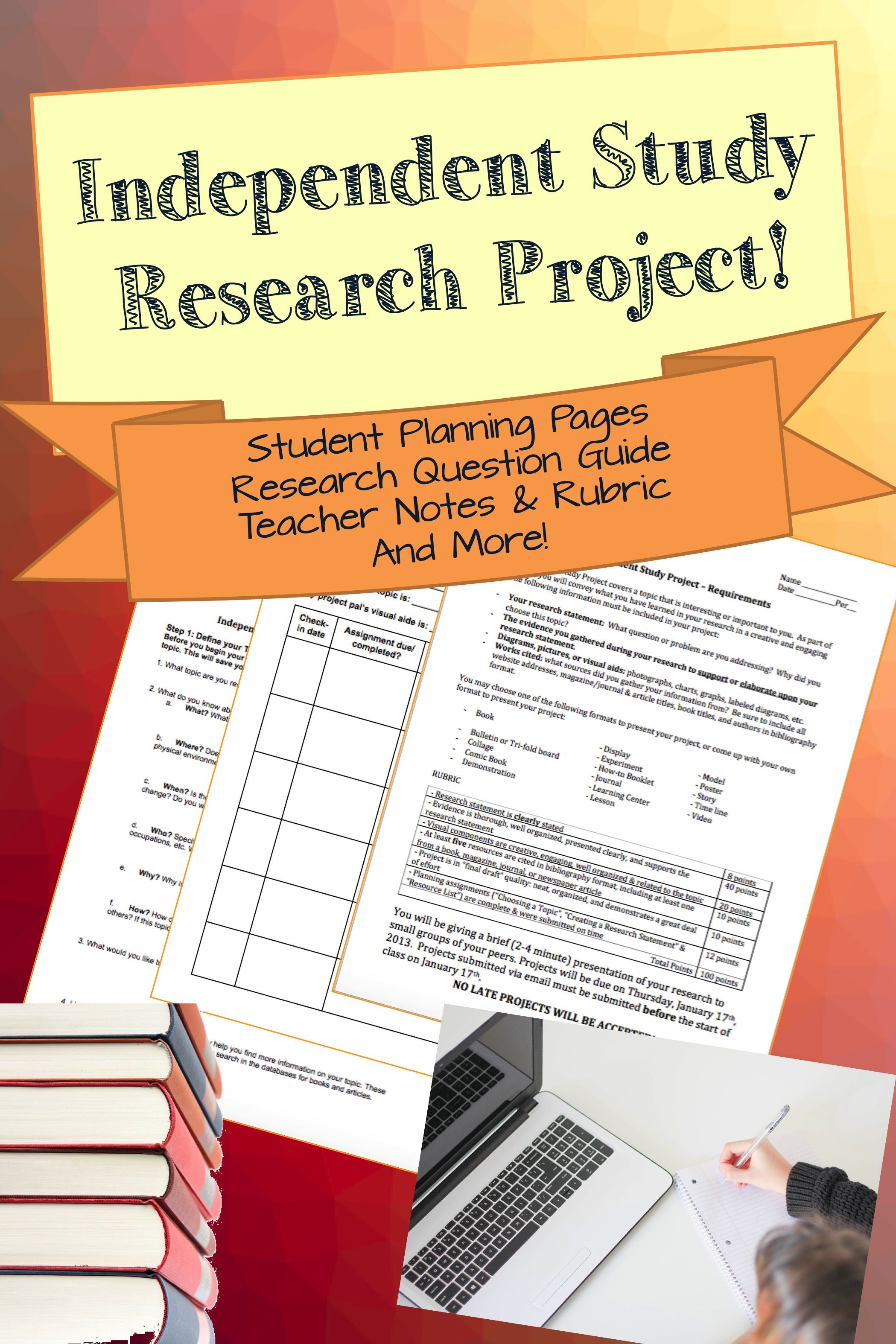 Independent Study Research Project Research Projects Teacher Notes Topic Worksheets [ 3149 x 2099 Pixel ]