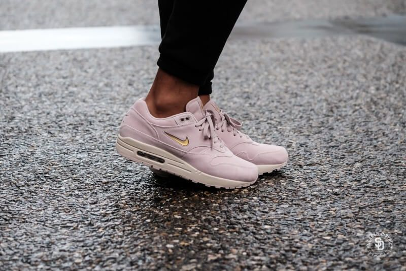 promo code a1a1d 35eb3 Nike Air Max 1 Premium SC Jewel Particle Rose Metallic Gold - 918354-601