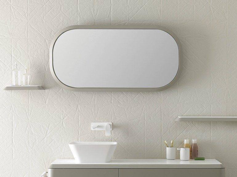 Specchio con cornice per bagno specchio ovale collezione fluent by inbani design arik levy - Specchio ovale per bagno ...