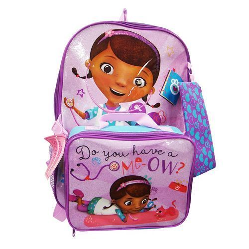 Disney Doc Mc Stuffins Backpack Lunch Bag   Pencil Case NWT  Disney ... e3763213240