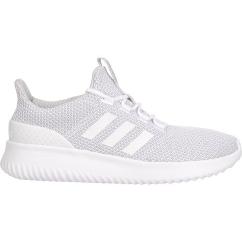 Adidas Men's Neo Cloudfoam Ultimate Running Shoes (White/Grey, Size 11) -