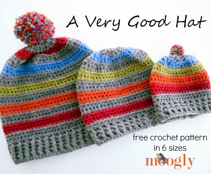 Free #Crochet Pattern: A Very Good Hat on Moogly! | Crochet Hats ...