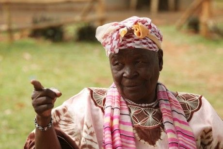 """""""Barack Obama wasn't born in Kenya"""" -- Meeting the president's step-grandmother at the family compound in Kenya..."""