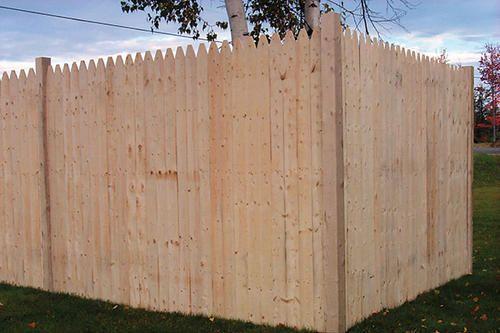 6 X 8 Stockade Natural Wood Fence Panel