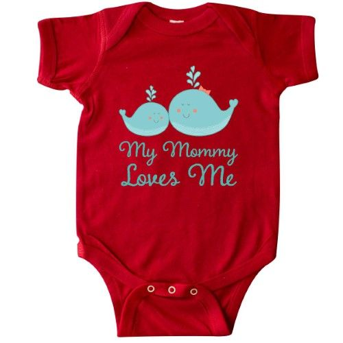 59c7a8773 Inktastic My Mommy Loves Me Whale Infant Creeper Baby Bodysuit Mom Babys 1st  Mothers Day Gift From Childs Cute Boys Girls Apparel Clothing I Love Kids  ...