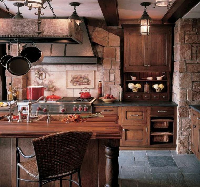 Cuisine Campagnarde Design Rustique Idées Pour La Maison - Cuisiniere rustique pour idees de deco de cuisine