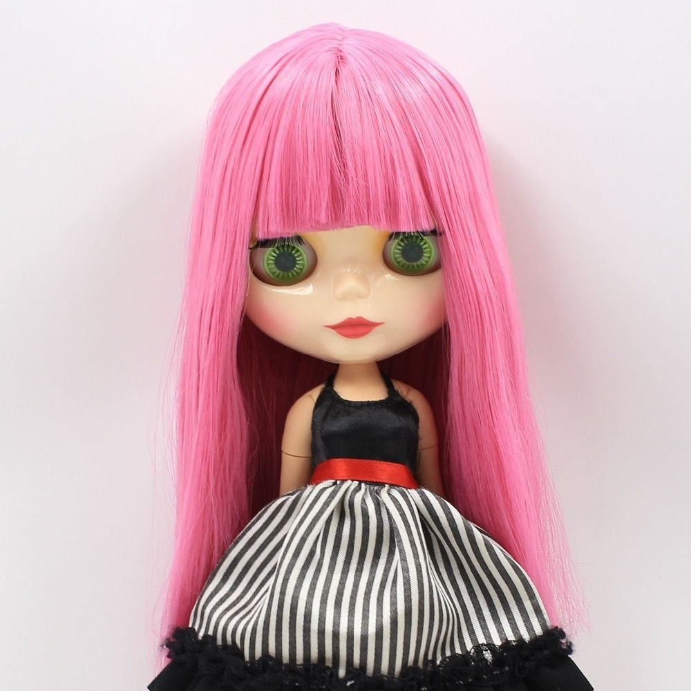 Factory Blyth Doll Nude Doll 300BL950 Black Long Wavy Hair