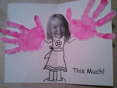 """""""Guess How Much I Love You"""" – these 'gargantuo-hands' are cute and silly! They'l…"""