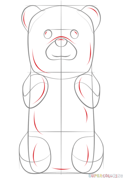how to draw a gummy bear step by step drawing tutorials for kids