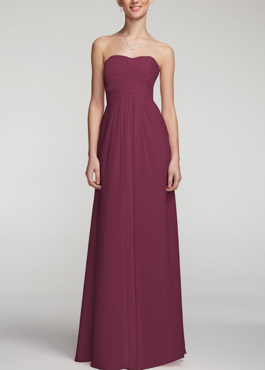Davids bridal bridesmaid dress in wine our wedding pinterest davids bridal bridesmaid dress in wine ombrellifo Image collections