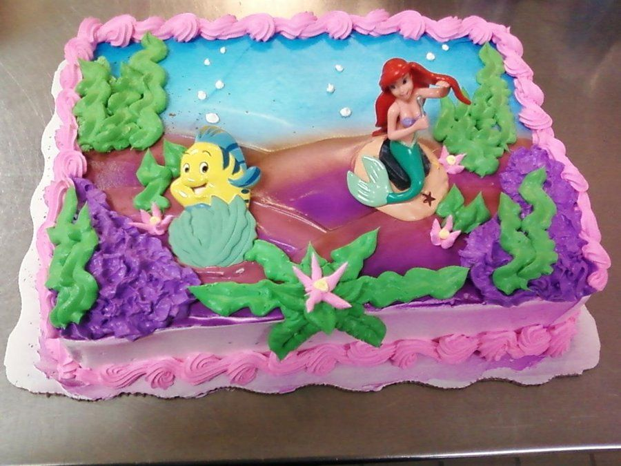 Little Mermaid Cake Great Decorating Ideas For Your Guest Of