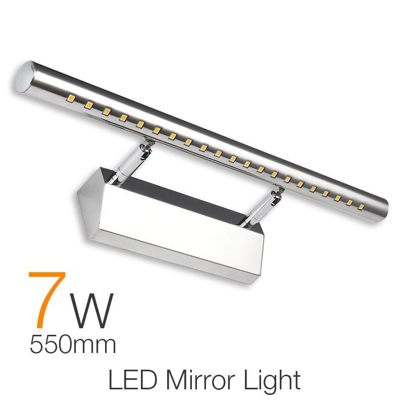Waterproof Modern LED Bathroom Lighting 55cm 7W Vanity LED Mirror Light  Fixture Wall Lamp Sconces Wall