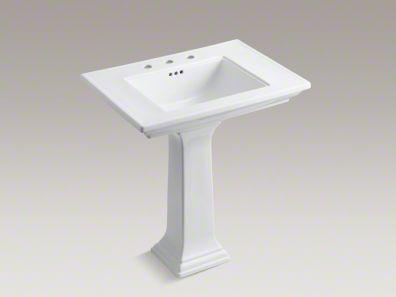 Kohler Memoirs Stately 30 Pedestal Bathroom Sink With 8