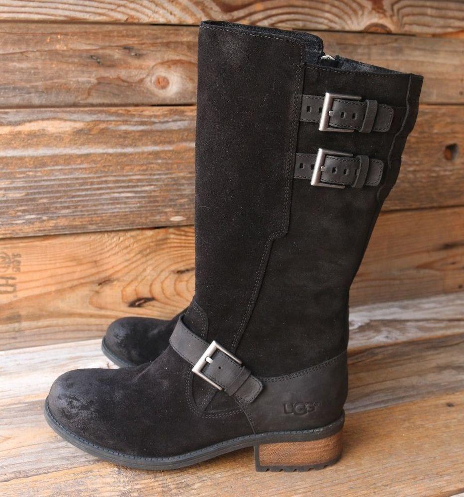 Womens Boots UGG Everglayde Black Suede