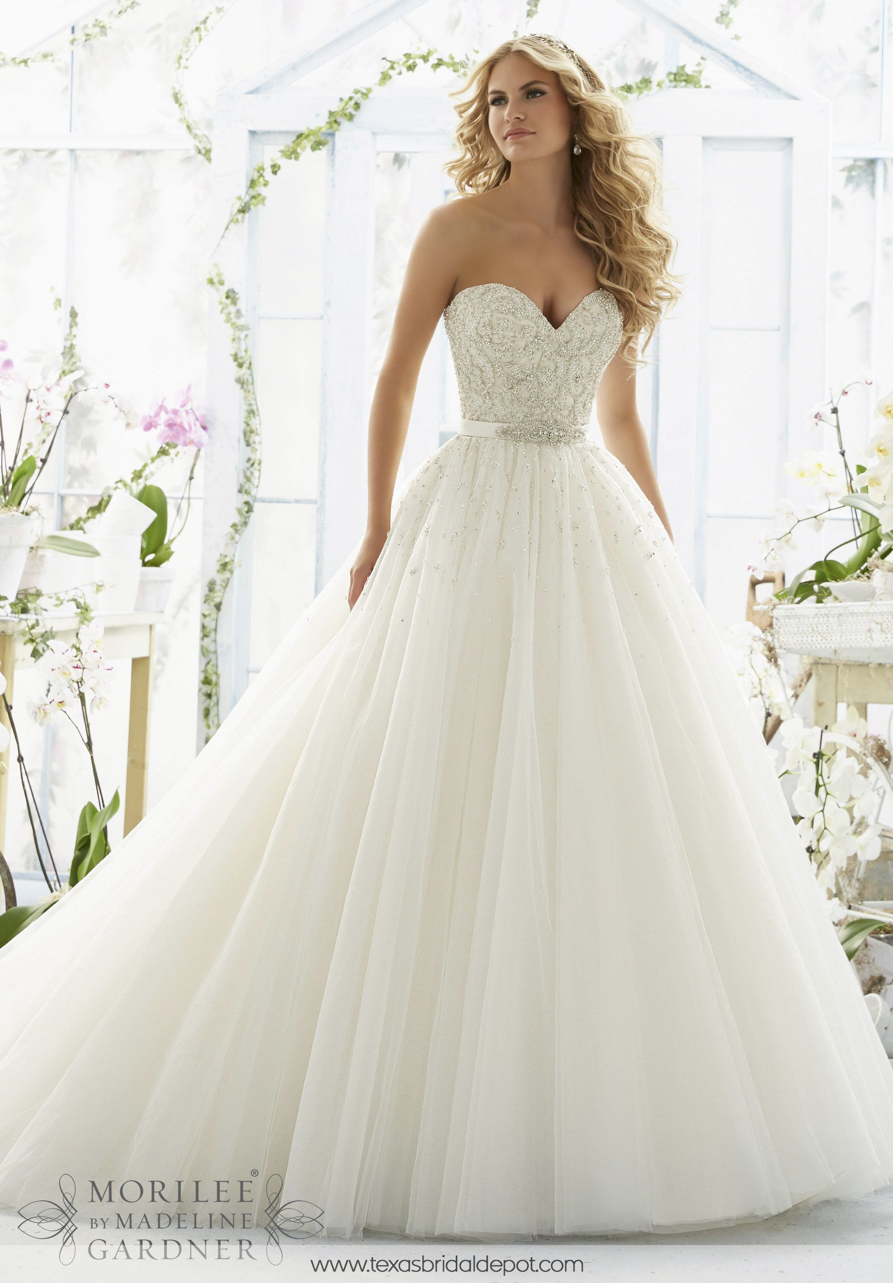 Wedding Dress 2802 PEARL AND DIAMANTE BEADING ON LASER CUT ...