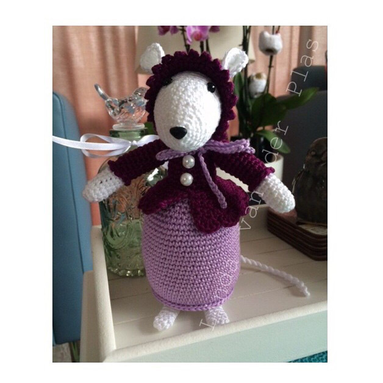 Madison Mouse....She's lovely Pattern;Made with love by Antoinette