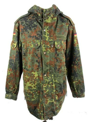 Vintage German Flecktarn Camouflage Parka.: Amazon.co.uk ...
