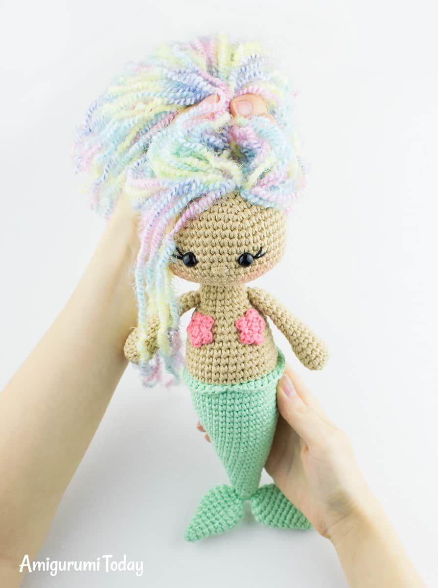 Aurora Mermaid amigurumi pattern | Pinterest | Patrones, Muñecas y ...