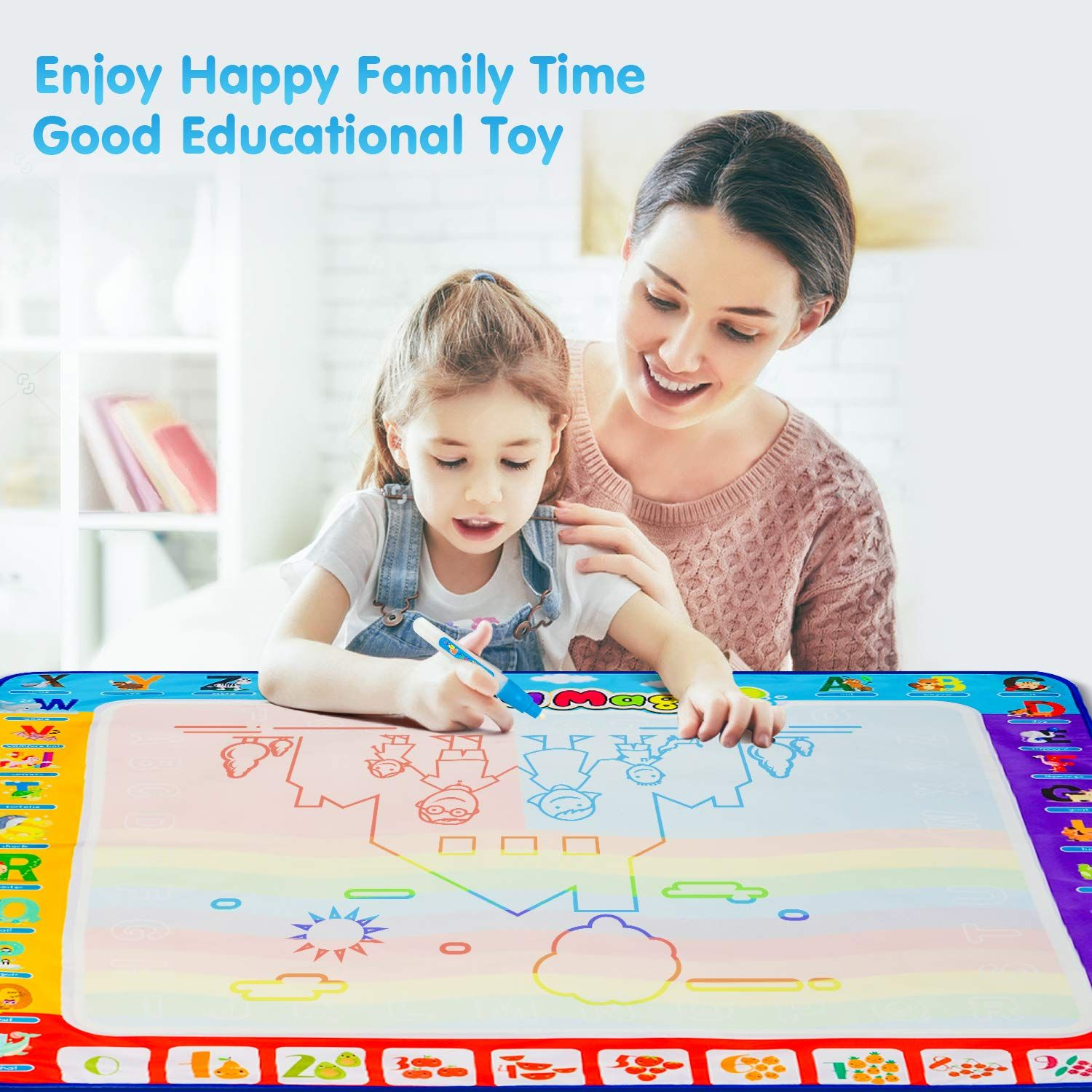 Larger Drawing Area Valid Drawing Area Is 32 32 Inch Big Enough For Parents And Kids To Enjoy Together Superior Material Made Of A Quick Drying Tc Cloth