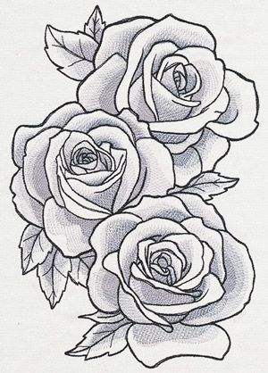 Sumptuous Rose Drawing Tattoo Roses Drawing Flower Drawing