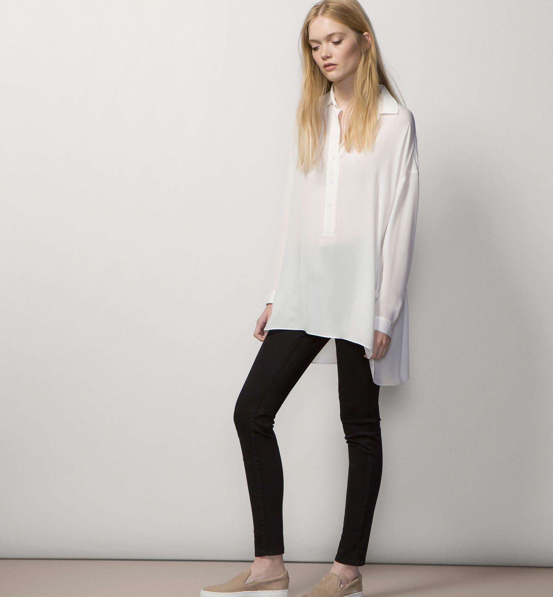 Satin Trousers Wardrobe Essentials Women Spain Massimo Dutti Satin Trousers Wardrobe Essentials Trousers