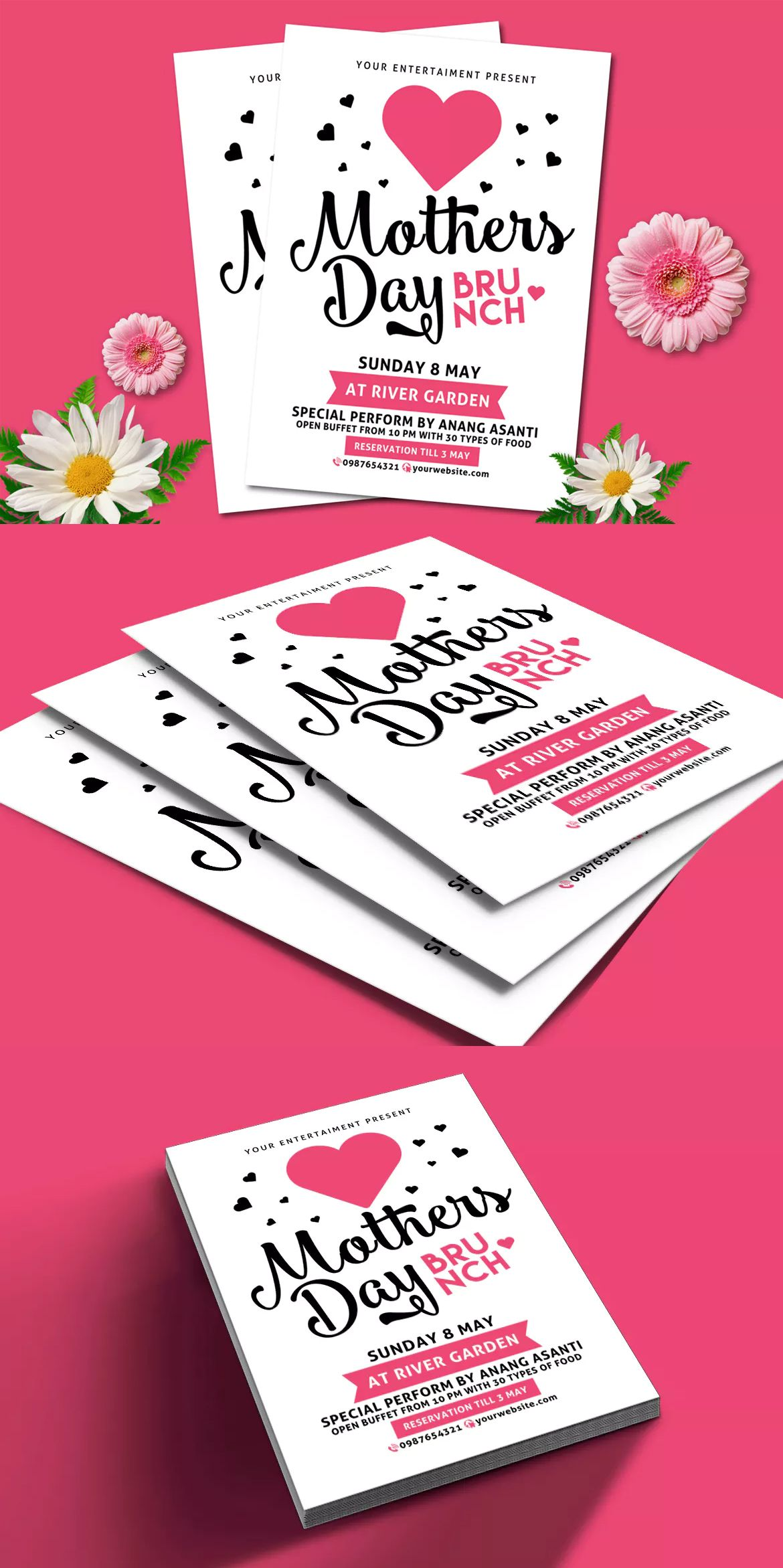 Mothers Day Brunch Flyer Template Psd  Flyer Design Templates