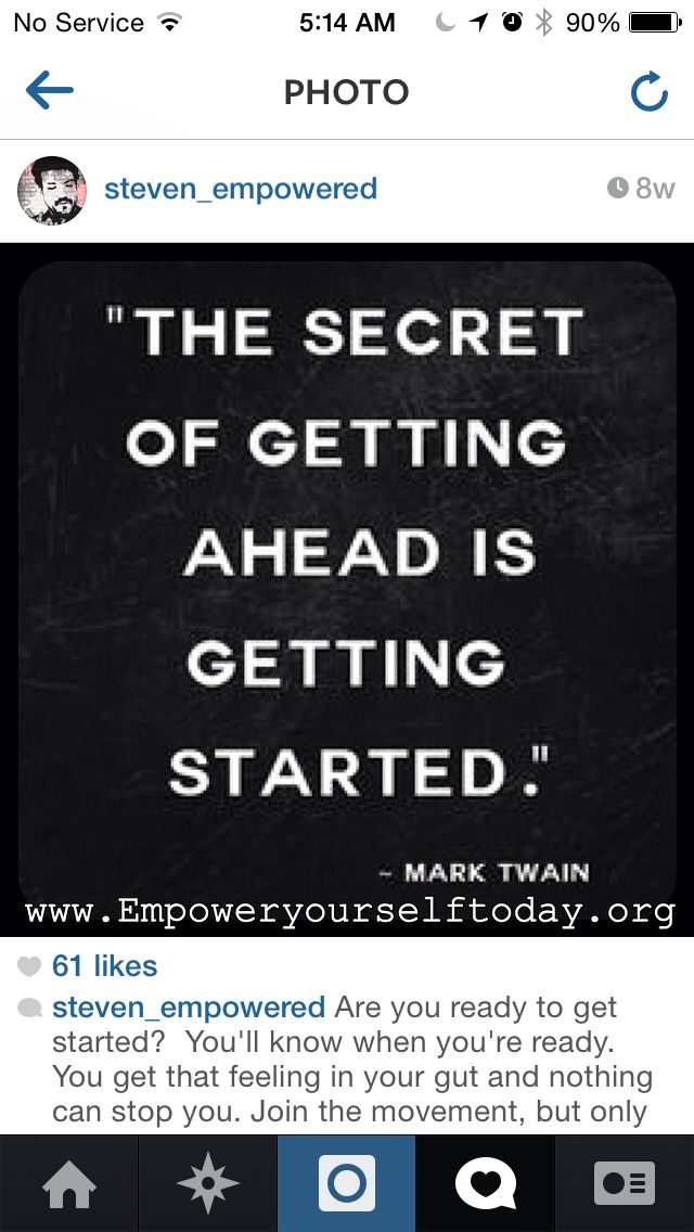 Get ahead by getting started!