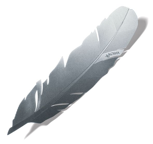 Stainless Steel Feather Bookmark On The Back Engraved Quotation