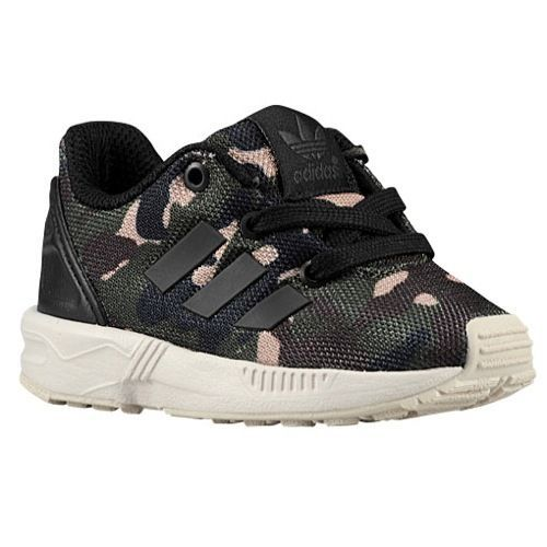 12bda7f6c6f Toddler Boys Adidas ZX Flux Camo Sneakers New Army Green Brown B24374 | eBay
