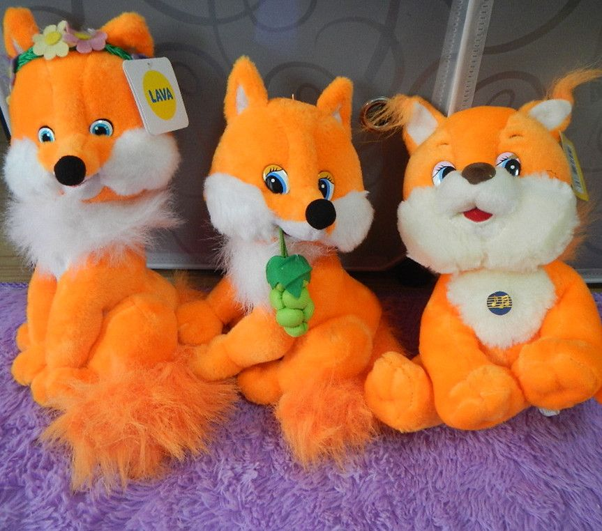 Russian language singing song plush fox soft dollelectronic toys for childrenIntellectual ...