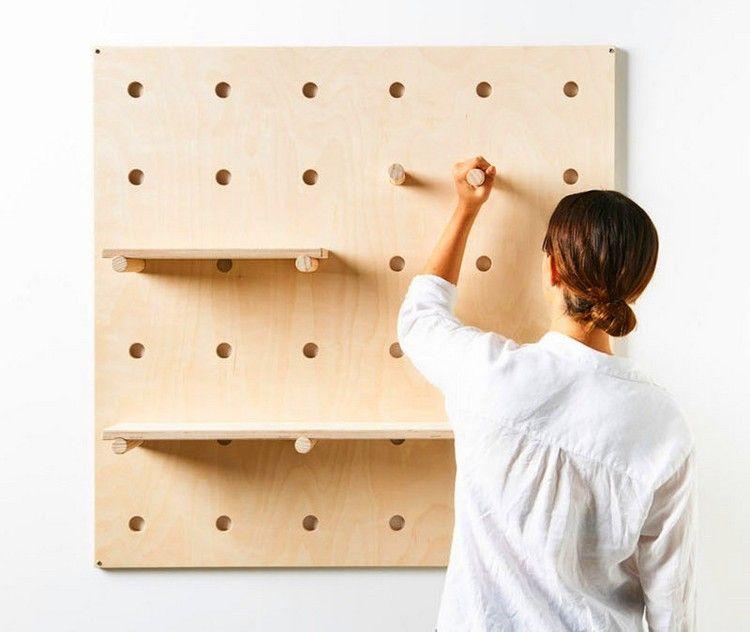 Lochplatten Aus Holz Und Kunststoff Schaffen Mehr Ordnung Zu Hause Diy Lochplattenmarmor Wand Holzlochwand Schnst Lochplatte Lochwande Aufbewahrung Regale