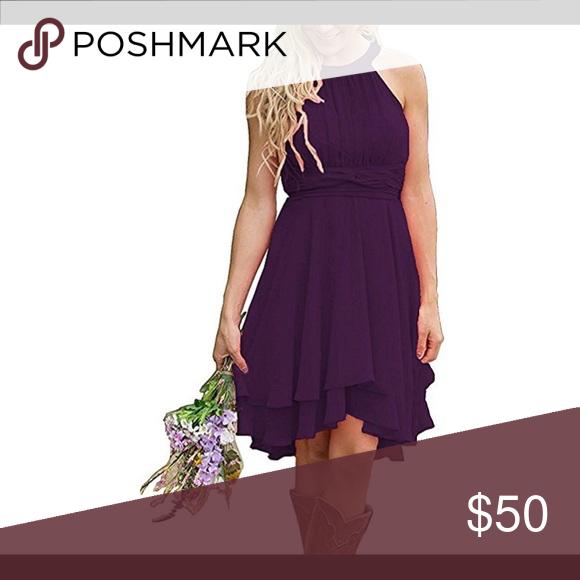 "906c7adb44eb Knee high dress💜 Meledy 47 Women s Knee Length Country ""Grape"" Bridesmaid  Dress Western Wedding Guest Dress Worn once! Great condition Meledy Dresses"