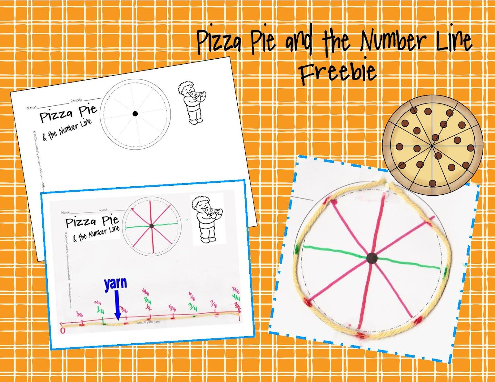 Pizza Pie And The Number Line Freebie