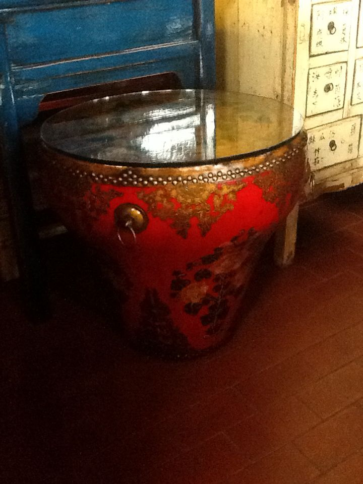 Coffee Table Tibetan Drum