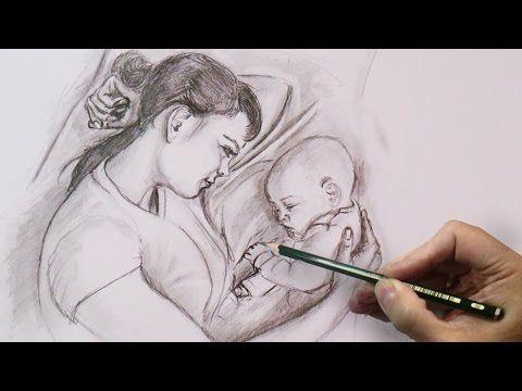 Kinder Bleistiftportrait Realistisch Zeichnen Speed Painting