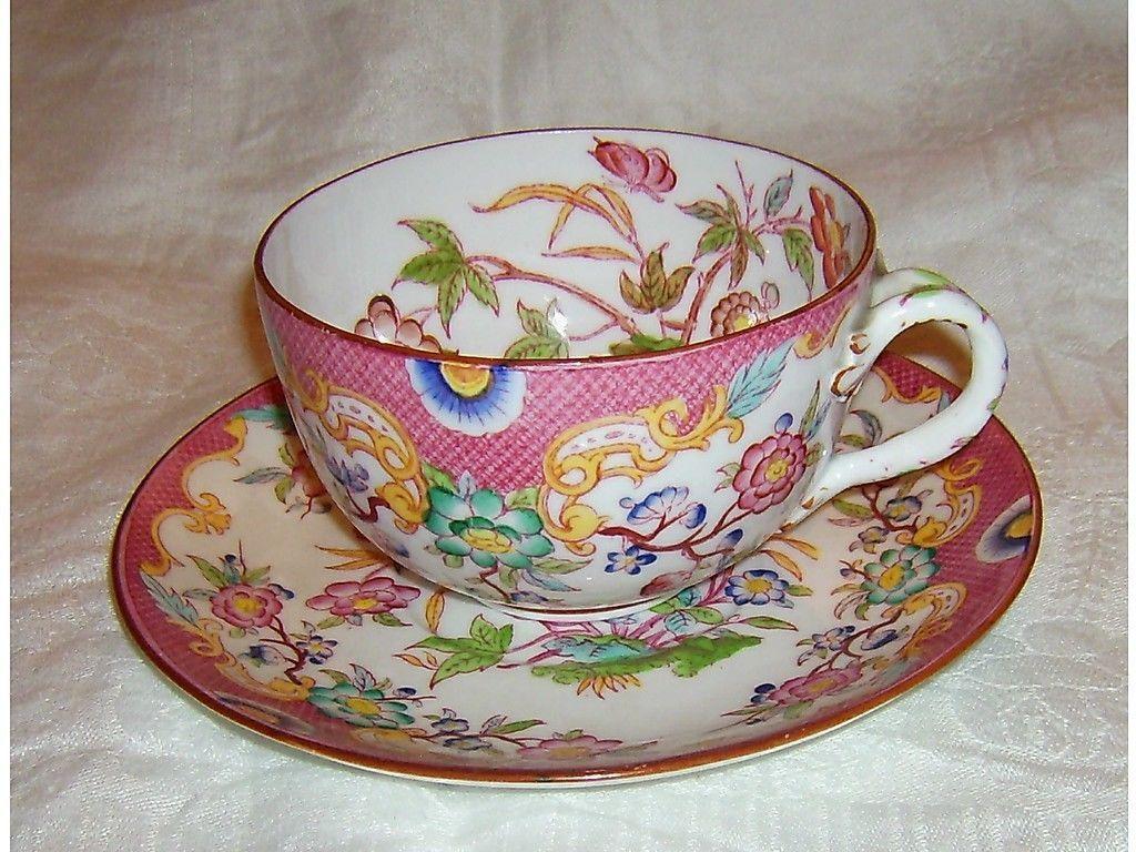 Apparat pleine grande tasse à thé-pour 1900-sarreguemines in Antiquitäten & Kunst, Porzellan & Keramik, Keramik | eBay