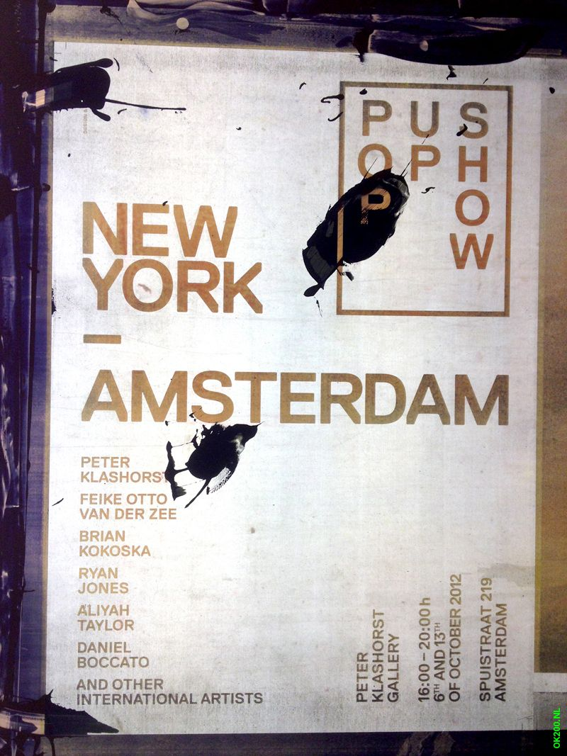 New York  — Amsterdam / Pop Up Show / Silkscreen