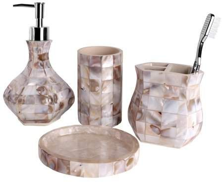 Mother Of Pearl Creative Scents Milano Bath Ensemble 4 Piece