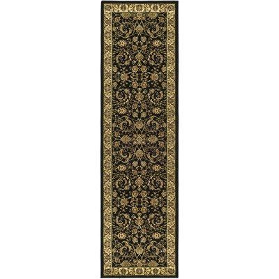Safavieh Lyndhurst Collection LNH219A Black and Ivory Area Runner, 2-Feet 3-Inch by 8-Feet by Safavieh. $66.73. 100% Polypropylene Pile. The traditional, mahal style of this rug will give your room a elegant accent. This runner measures 2-feet 7-inch by 8-feet. The powerloomed construction adds durability to this rug, ensuring it will be a favorite for many years. This rug features a black background and ivory border, and displays beautiful panel colors of green, ...