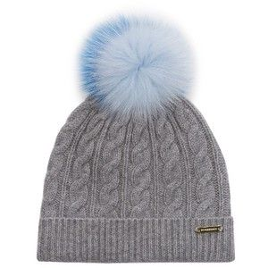 Burberry Fur pompom wool and cashmere-blend hat  0bbadafa8a3