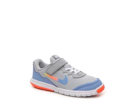 Women s Nike Flex Experience 4 Print Girls Toddler   Youth Running Shoe -  Grey Periwinkle 21c054d3ff