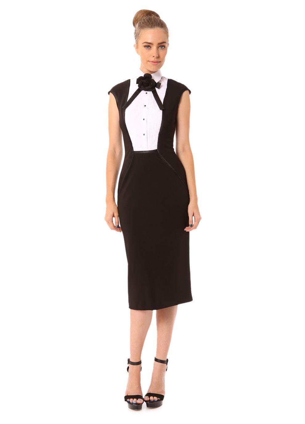 Nicolangela; Tuxedo Cocktail dress-Black/White Fun and classy | pure ...