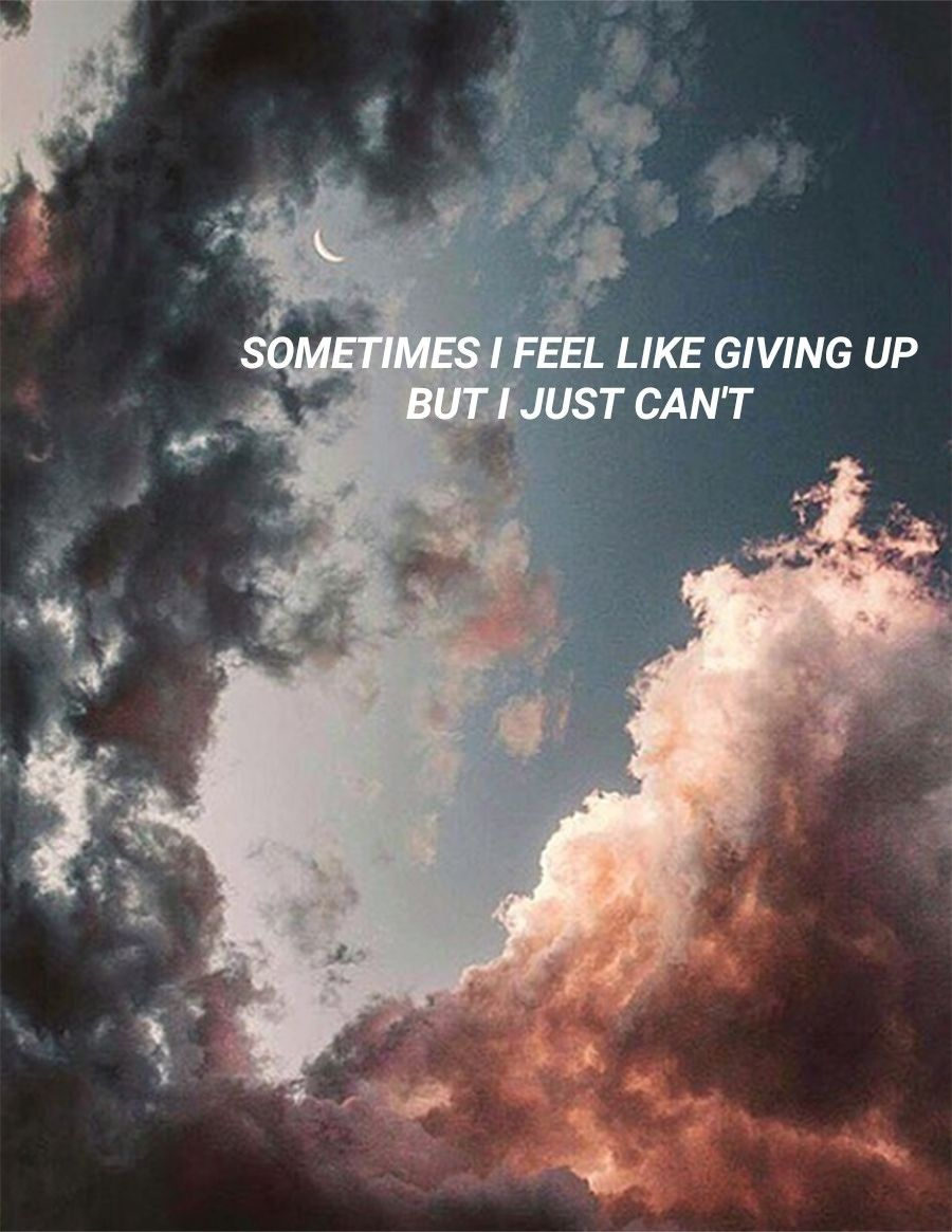 Sometimes I Feel Like Giving Up But I Just Cant Lyrics Quotes