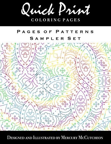 Pages Of Patterns Sampler Set Quick Print Coloring Series